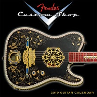 2019 Fender Custom Shop Mini Wall Calendar