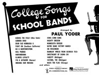 College Songs for School Bands - Baritone (B.C.)