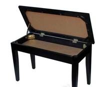 Upright Piano Bench Polished Ebony