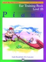 Alfred's Basic Piano Course: Ear Training Book 1B