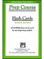 Alfred's Basic Piano Prep Course: Flash Cards, Levels C-F