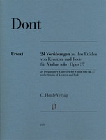 24 Preparatory Exercises for Violin Solo Op. 37