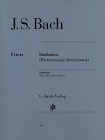 SINFONIAS THREE PART INVENTIONS BWV 787 801