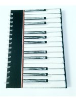 A6 Hardback Spiral Notebook Piano Keys