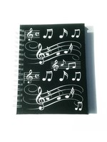 A6 Hardback Spiral Notebook Music Notes