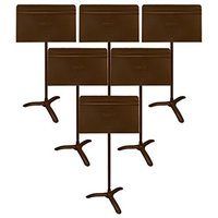 MUSIC STAND SYMPHONY BROWN 6 STANDS