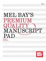 Premium Quality Manuscript Pad 96 Page 12 Stave