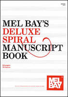 Deluxe 10 Stave 64 Page Spiral Manuscript Book