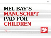 Manuscript Pad for Children 96 Page 6 Staves
