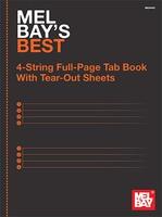 Best 4 String Tab Manuscript Book