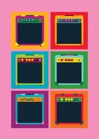 Amps Pop Art Style - Greeting Card