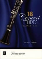 18 Concert Etudes for Solo Clarinet