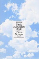 Music Manuscript Book, 12 Stave 64 Pages
