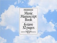 Music Manuscript Book, 6 Stave 32 Pages