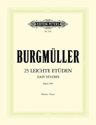 BURGMULLER - 25 EASY & PROGRESSIVE STUDIES OP 100