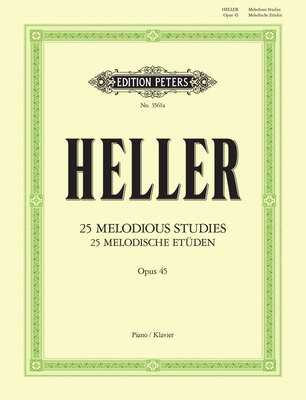 HELLER - 25 MELODIOUS STUDIES OP 45 ED TEICHMULLER