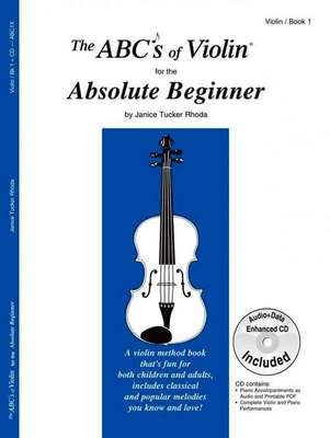ABCS OF VIOLIN BK 1 ABSOLUTE BEGINNER BK/CD