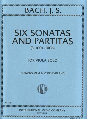 6 SONATAS AND PARTITAS ORIG VLN FOR VIOLA SOLO