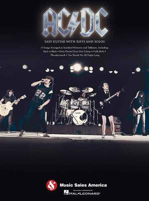AC/DC EASY GUITAR WITH RIFFS AND SOLOS GTR TAB