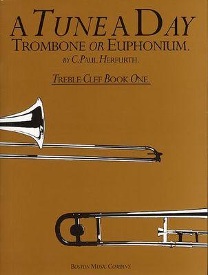 A TUNE A DAY TROMBONE/EUPHONIUM BK 1 TREBLE CLEF
