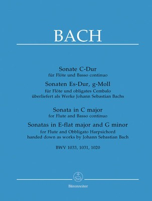 3 FLUTE SONATAS BWV 1020 1031 1033 FLUTE/PIANO