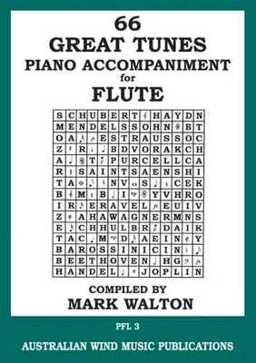 66 GREAT TUNES FLUTE PIANO ACCOMPANIMENT