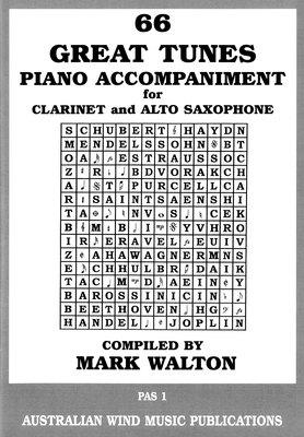 66 GREAT TUNES ALTO SAX/CLARINET PIANO ACCOMPANIMENT