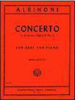ALBINONI   CONCERTO D MIN OP 9 NO 2 OBO/PIANO