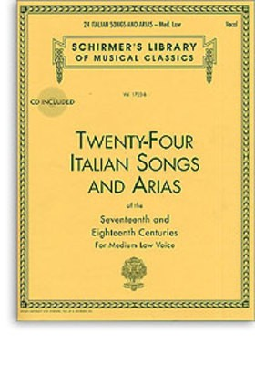 24 ITALIAN SONGS AND ARIAS MED LOW VOICE BK/OLA