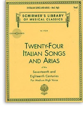24 ITALIAN SONGS AND ARIAS MED HIGH VOICE BK/OLA