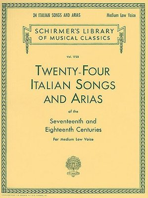 24 ITALIAN SONGS AND ARIAS MEDIUM/LOW VOICE