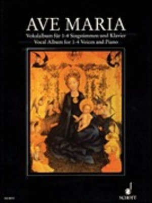 AVE MARIA VOCAL ALBUM 1 TO 4 VOICES AND PIANO