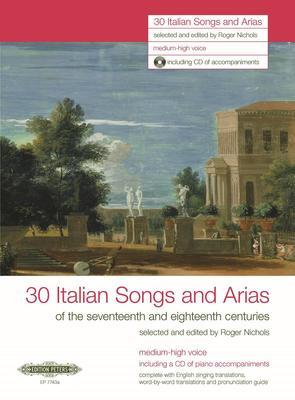 30 ITALIAN SONGS AND ARIAS MED HIGH BK/CD