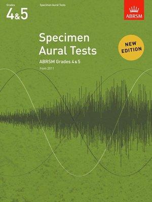 A B SPECIMEN AURAL TESTS GR 4 5 FROM 2011