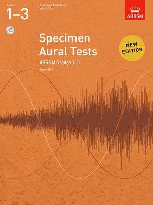 A B SPECIMEN AURAL TESTS GR 1 3 BK/CD FROM 2011