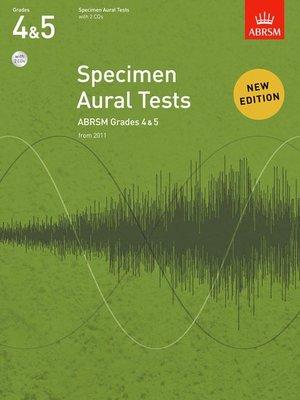 A B SPECIMEN AURAL TESTS GR 4 5 BK/CD FROM 2011