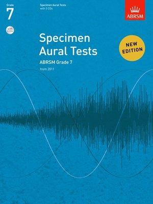 A B SPECIMEN AURAL TESTS GR 7 BK/CD FROM 2011