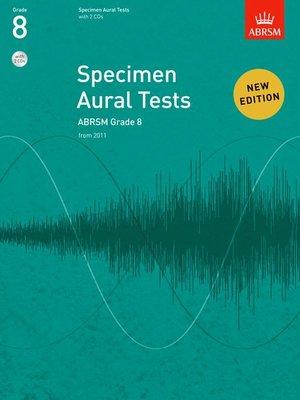A B SPECIMEN AURAL TESTS GR 8 BK/CD FROM 2011
