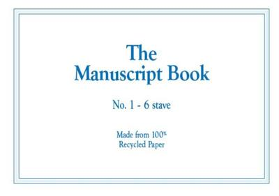 MANUSCRIPT BK 1 6 STAVE  RECYCLED  16PP STAPLED