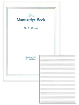 MANUSCRIPT BK 2 12 STAVE  RECYCLED  48PP STAPLED