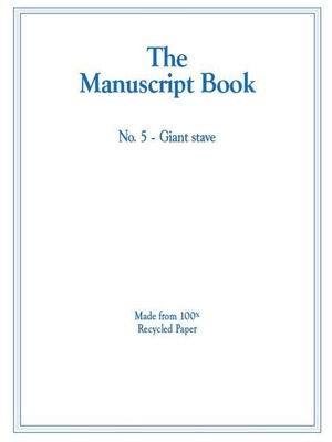 MANUSCRIPT BOOK 5 10 STAVE GIANT RECYCLED 20PP