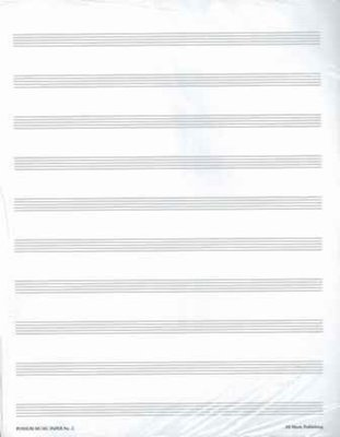 MANUSCRIPT PAPER 25 PACK NO 1 12 STAVE