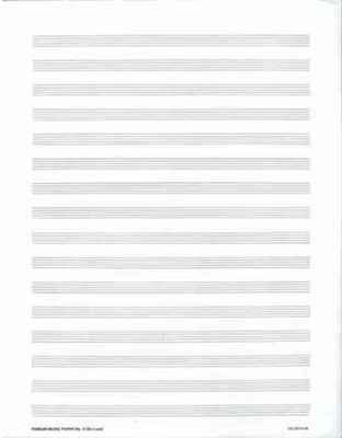 MANUSCRIPT PAPER 25 PACK NO 3 16 STAVE
