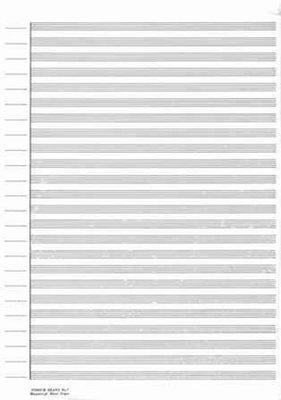 MANUSCRIPT PAPER 25 PACK NO 7 24 STAVE SCORE