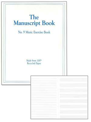 MANUSCRIPT BOOK 9 INTERLEAVED 26PP 9 STAVE
