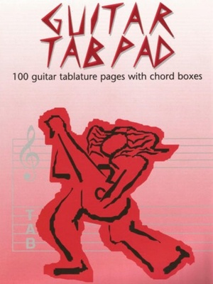 GUITAR TAB PAD  WITH CHORD BOXES  50PP