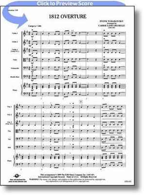 1812 OVERTURE ARR GRUSELLE STRING ORCH SC/PTS