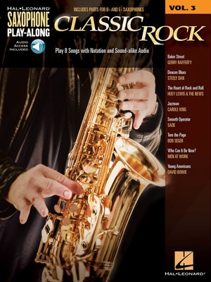 CLASSIC ROCK SAX PLAY ALONG V3 BK/CD