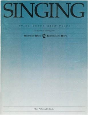 Singing - Third Grade High Voice