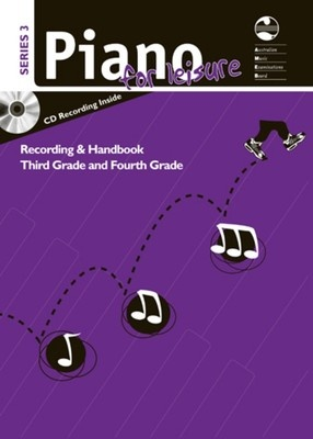 AMEB PIANO FOR LEISURE GR 3 TO 4 SERIES 3 CD/HANDBOOK